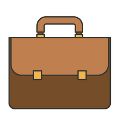 Colorful silhouette of executive briefcase vector
