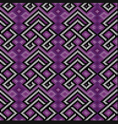 Contrast knitted seamless pattern vector
