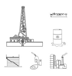 Design of oil and gas icon set of oil and vector
