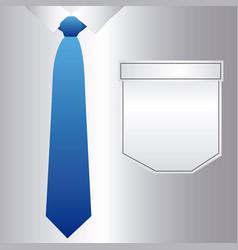 Elegant shirt with tie icon vector