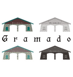 Entrance city gramado vector
