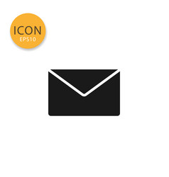 envelope icon isolated flat style vector image