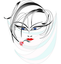 face of the women vector image vector image
