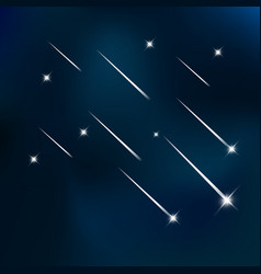 falling stars in the blue sky vector image