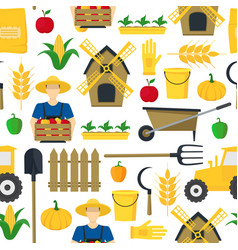 farmer background pattern farming elements and vector image