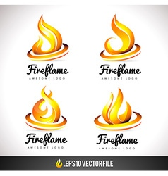 Fire Logo Icon Flame Design vector image