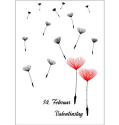 german valentine dandelion vector image