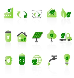 Green icon sets big vector