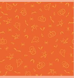 halloween seamless pattern background hand vector image