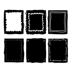 handdrawn doodle frame collection vector image