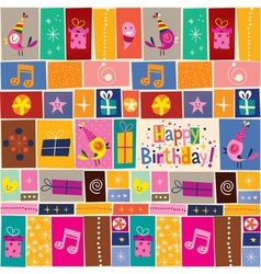 Happy Birthday pattern 2 vector