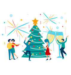 Holiday christmas and new year concept vector