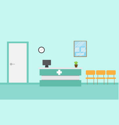 hospital reception vector image