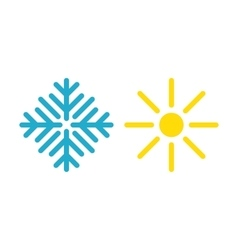 Hot and cold symbol vector