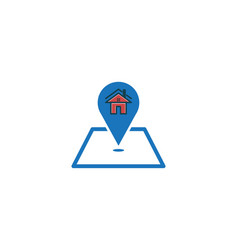 house home and map point logo designs inspiration vector image