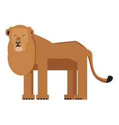 Isolated abstract lion vector