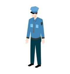 Isometric policeman icon vector