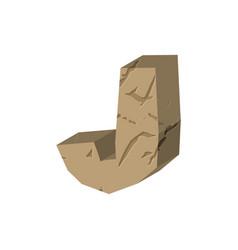 Letter j stone font rock alphabet symbol stones vector