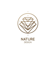linear abstract logo diamond vector image