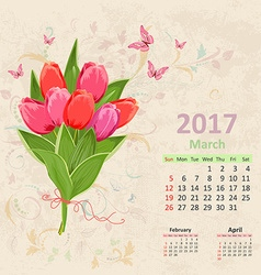Lovely bouquet of pink tulip on grunge background vector