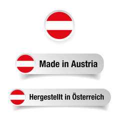 Made in austria label sign vector