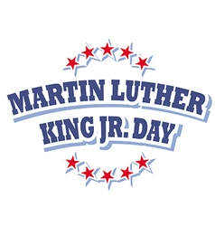 Martin luther king jr day logo symbol vector