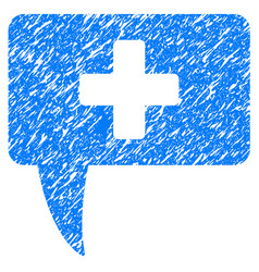 medical answer grunge icon vector image