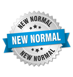 New normal round isolated silver badge vector