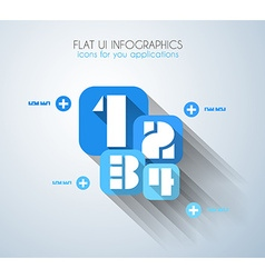newStyle3 infographicBLUE vector image