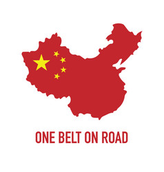 Obor china one belt one road initiative design vector