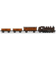 Old steam train vector