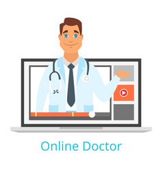 online doctor and consultation vector image