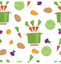Pattern kitchen vegetable casserole vector