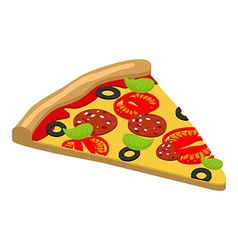 Pizza isometrics 3D Italian food Delicious fresh vector image