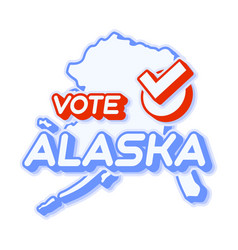 Presidential vote in alaska usa 2020 state map vector