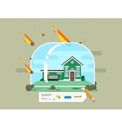 Property insurance concept vector