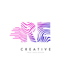 Re r e zebra lines letter logo design with vector
