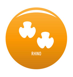 rhino step icon orange vector image