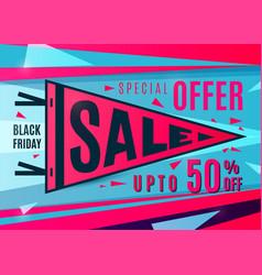 Sale banner design sport pennant typography vector