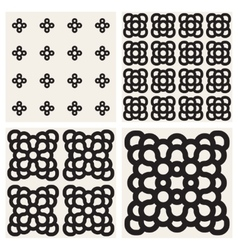 Seamless Black And White Rounded Ornaments vector