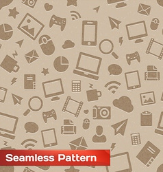 Seamless Media Pattern vector image
