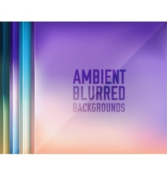 set of blurred backgrounds concepts vector image