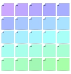Set of color labels with folded corner vector