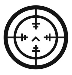 Sniper gun aim icon simple style vector