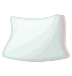 soft pillow icon cartoon style vector image