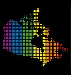 spectrum dot lgbt canada map vector image