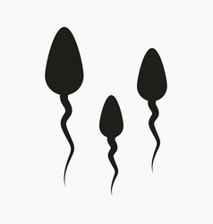 sperm icon vector image