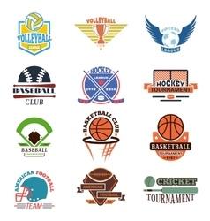 Sport team badge set vector image vector image