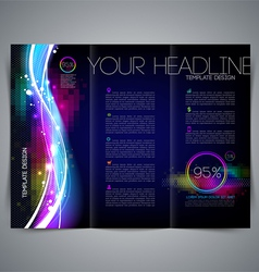 Template leaflet page design vector