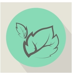 The Leaf Plant Icon vector